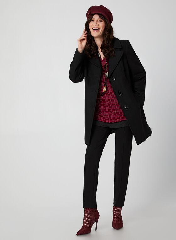 Anne Klein - Manteau mi-long en laine, Noir