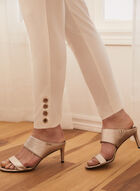 Eyelet Detail City Fit Pants, Off White