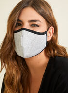 Monochrome Cotton Mask, Grey