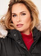 Novelti - Removable Faux Fur Quilted Coat, Black, hi-res