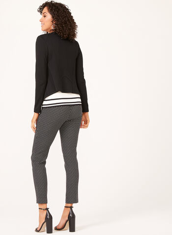 Vex - Open Front Knit Jacket, Black, hi-res