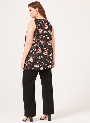 Ness - Blouse florale sans manches , Noir, hi-res