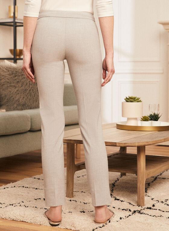 City Fit Mid Rise Pants, Grey