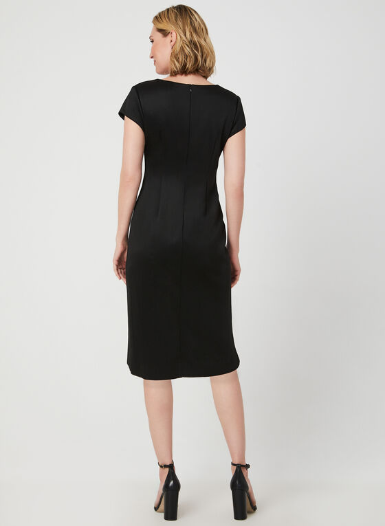 Embroidered Midi Dress, Black