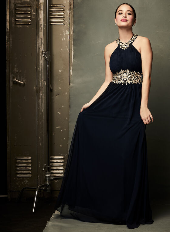 ea47c026a15 ... Beaded Embroidery Empire Waist Dress