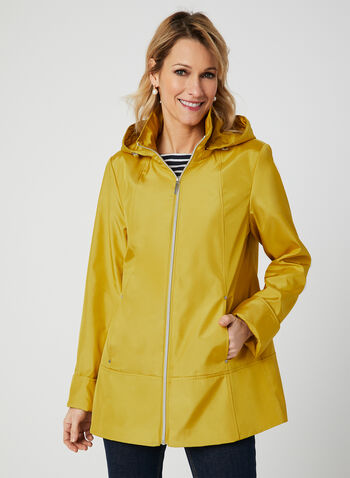 A-Line Raincoat, Yellow,  water resistant, spring 2019