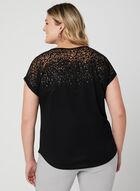 T-shirt avec jeu de transparence, Noir
