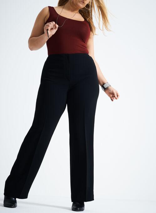 Louben - Straight Leg Pants, Black, hi-res