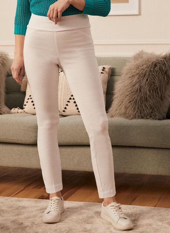 Slim Leg Pull-On Pants, White