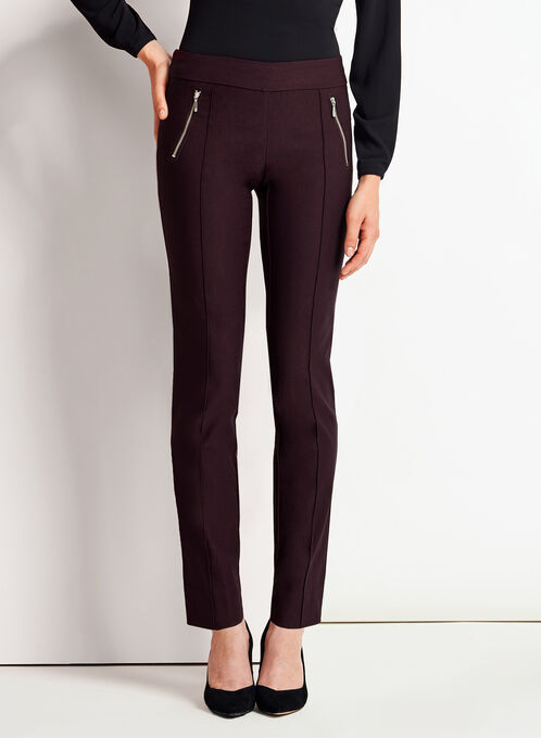 City Fit Slim Leg Pants, Red, hi-res