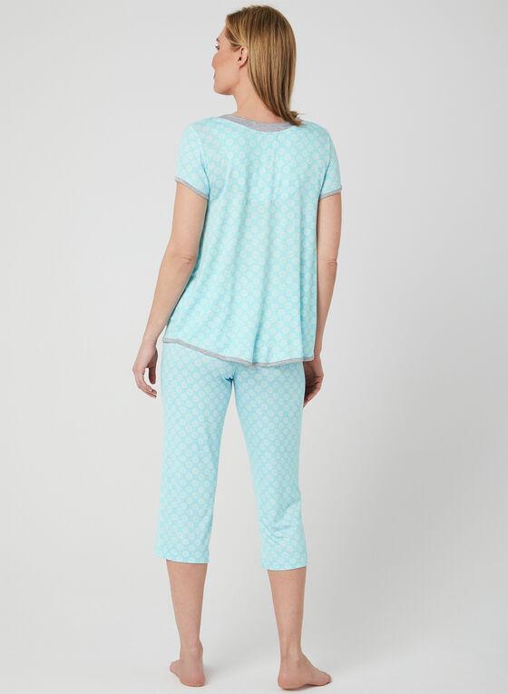 René Rofé - Pyjama 2 pièces à imprimé floral, Bleu, hi-res