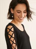 Nina Leonard - 3/4 Sleeve A-Line Dress, Black