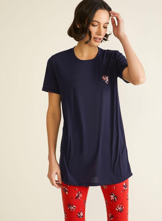 Lace Trim Pyjama Set, Red