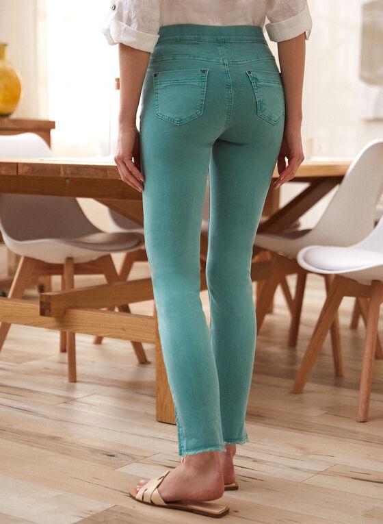 Charlie B - Frayed Cuff Jeans, Green