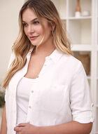 Linen Tunic Shirt, White