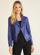 Vex - Faux Suede Jacket, Blue