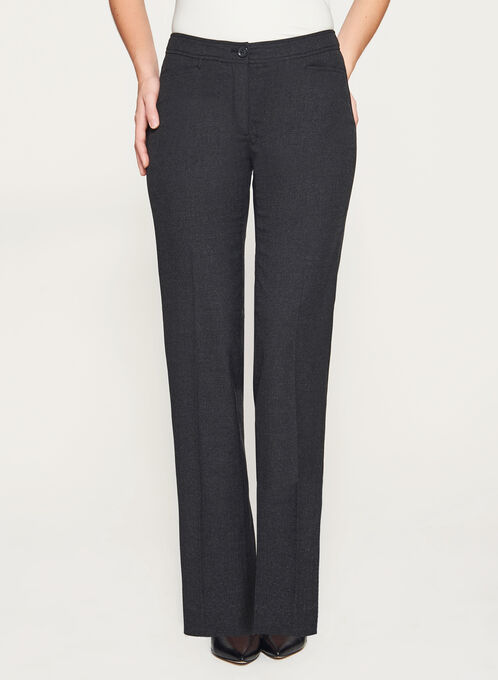 Modern Fit Wide Leg Pants, Grey, hi-res