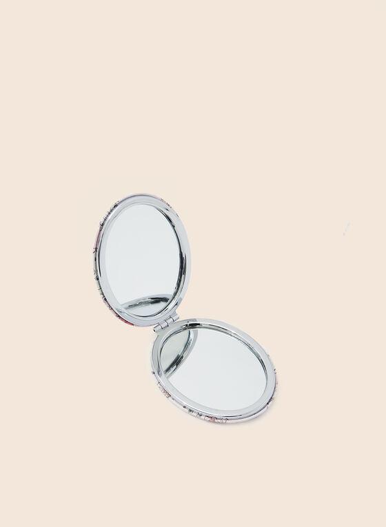 Miroir de poche ovale motif chouettes, Multi
