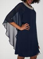 Robe poncho à col bijou, Bleu, hi-res