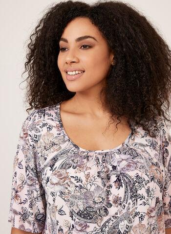 Hamilton - Floral Print Jersey Pajamas, Pink, hi-res