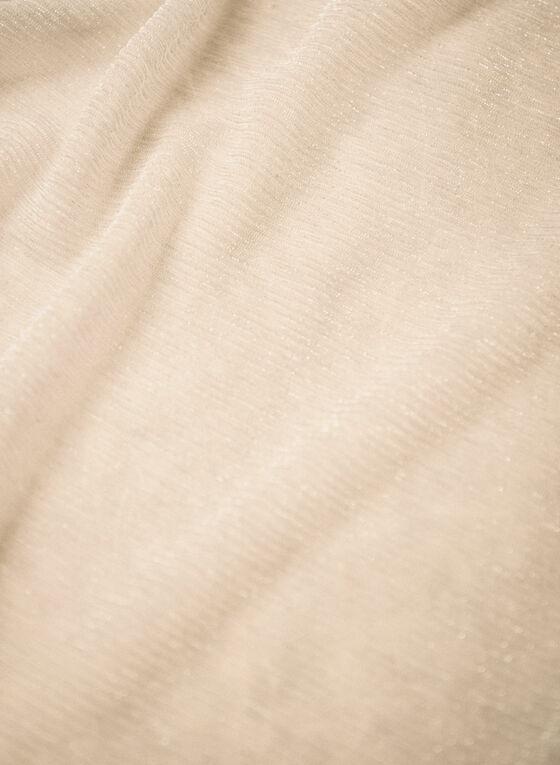 Textured Glitter Evening Wrap, Silver