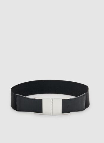 Elastic Interlock Belt, Black, hi-res