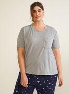 Short Sleeve Pyjama Top, Silver