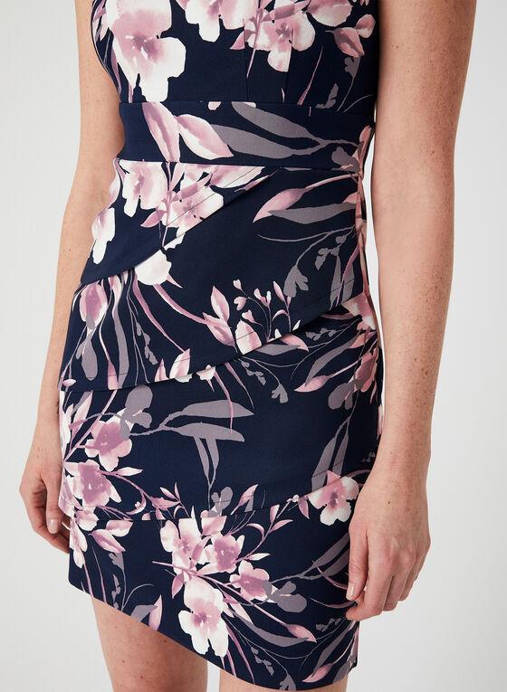 Floral Print Dress, Blue