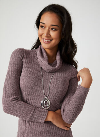 Textured Rib Knit Top, Purple, hi-res,  canada, rib knit, knit, top, sweater, blouse, long sleeves, textured top, fall 2019, winter 2019