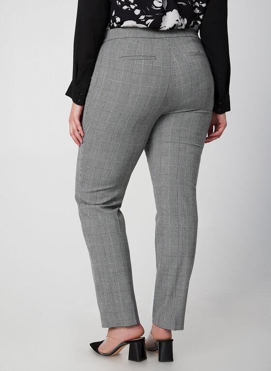 City Fit Printed Pants, Black