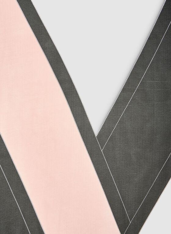 Foulard léger oblong à blocs de couleurs, Rose, hi-res