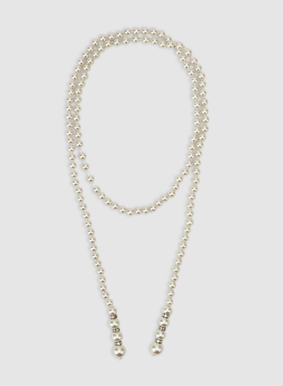 Pearl Necklace, Off White