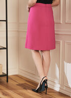 Topstitch Detail Straight skirt, Purple