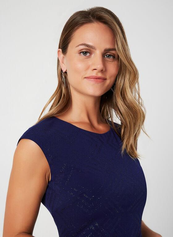 Glitter Jersey Dress, Blue, hi-res
