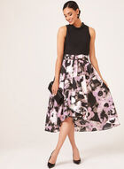 Abstract Print High Low Dress, Black, hi-res