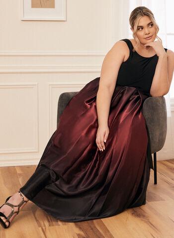 Ombré Satin Evening Dress, Black,  dress, evening, occasion, sleeveless, jersey, satin, ombré, ribbon, scoop neck, v-back, ballgown, crinoline, spring summer 2020