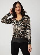 Vex - Animal Print Long Sleeve Top, Brown
