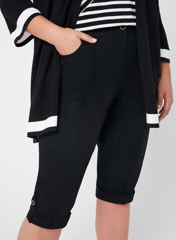 Modern Fit Capri Pants, Black, hi-res,  capri pants, Modern Fit, straight leg, cargo, spring 2019