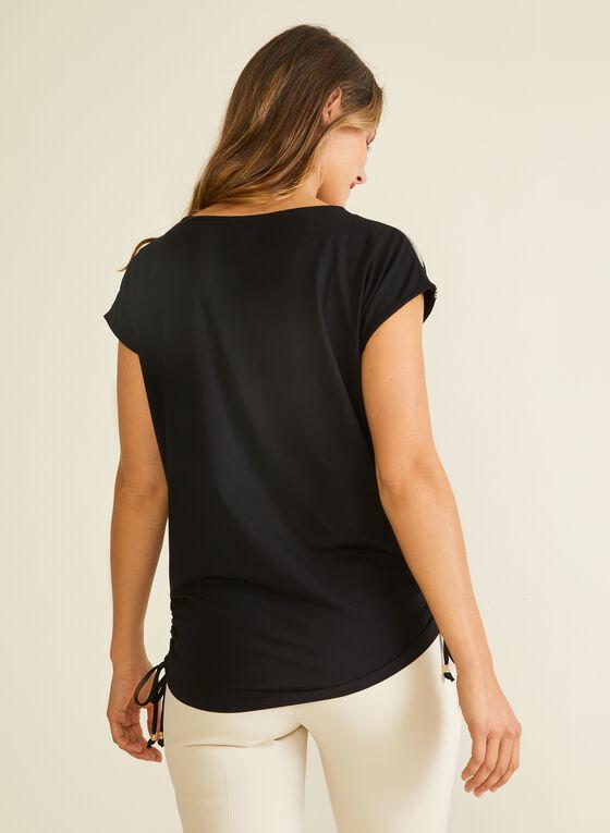 T-shirt à détails ornementés, Noir