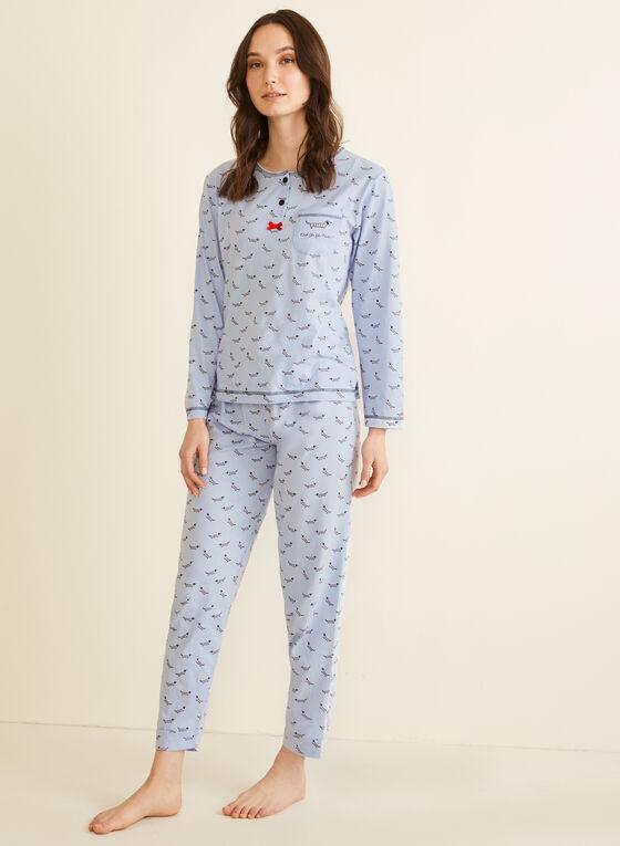 Karmilla Lingerie - Dog Print Pyjama Set, Blue