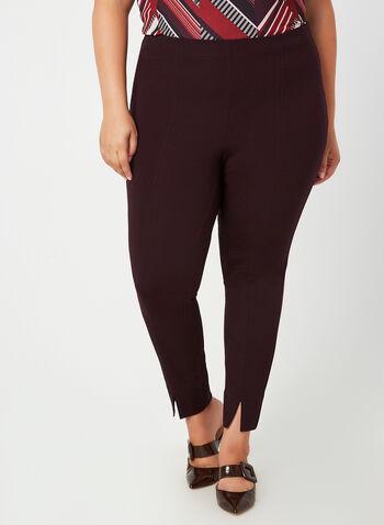 City Fit Pull-On Pants, Purple, hi-res,  fall winter 2019, slim leg, city fit
