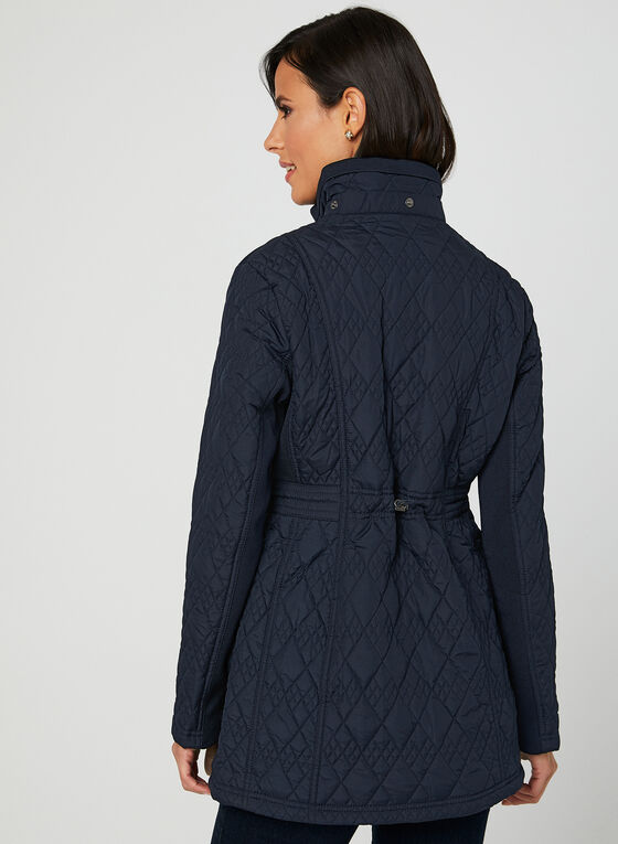 Weatherproof - Lightweight Quilted Coat, Blue, hi-res