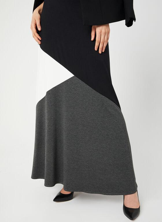 Jersey Maxi Skirt, Grey, hi-res