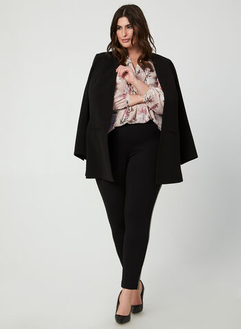 Floral Print Chiffon Blouse, Multi, hi-res,  blouse, floral, V-neck, long sleeves, balloon sleeves, chiffon, fall 2019, winter 2019