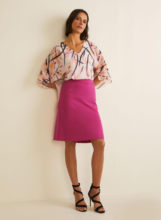 Cape Style Blouse, Purple