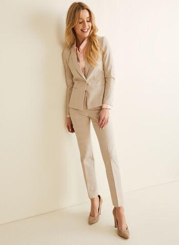 Modern Fit Tartan Print Pants, White,  pants, straight leg, modern fit, tartan, mid rise, spring summer 2020