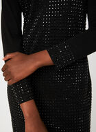 Robe cocktail en strass , Noir, hi-res