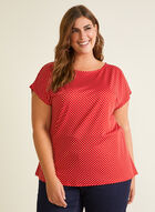 Chapter One - Polka Dot Print Top, Red
