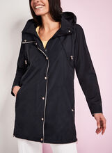 Nuage Hooded Contrast Rain Coat, Blue, hi-res
