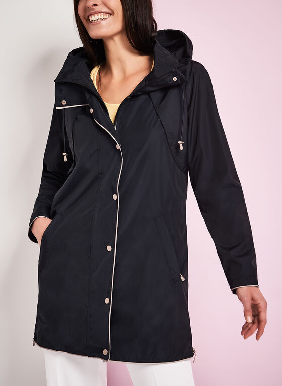 Nuage - Hooded Contrast Rain Coat, Blue, hi-res